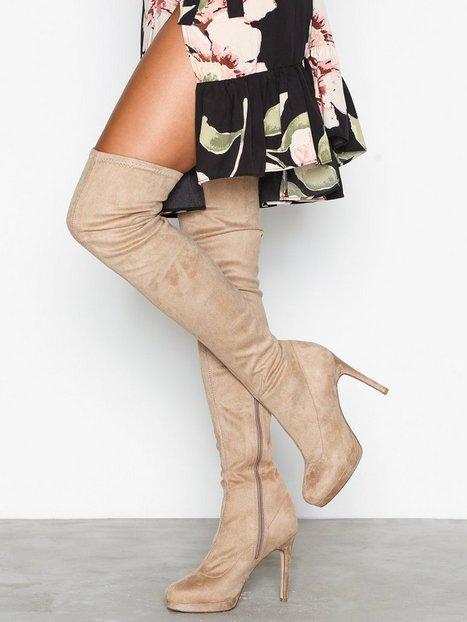 Billede af NLY Shoes Platform Over Knee Boot Thigh-high Brun/Grå