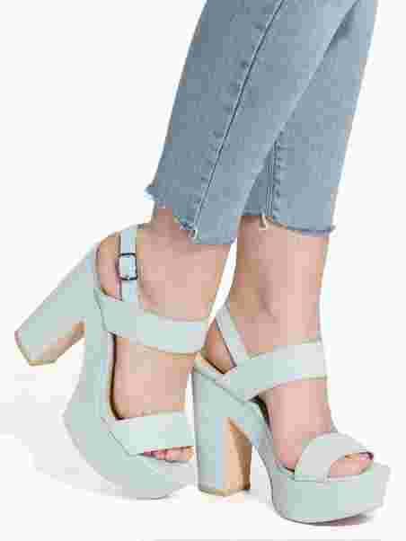 6b66b4c621 Platform Chunky Sandal - Nly Shoes - Mint - Heels - Shoes - Women ...