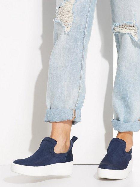 NLY Shoes Padded Flatform Sneaker Slip-On Blå thumbnail