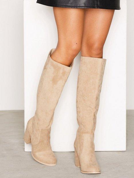 Billede af NLY Shoes Block Heel Knee High Boot Over the knee Beige