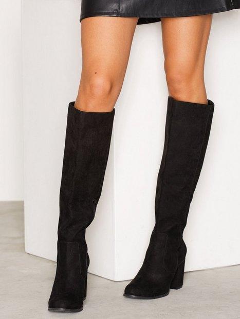 Billede af NLY Shoes Block Heel Knee High Boot Over the knee Sort