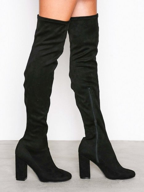 Block Heel Thigh Boot