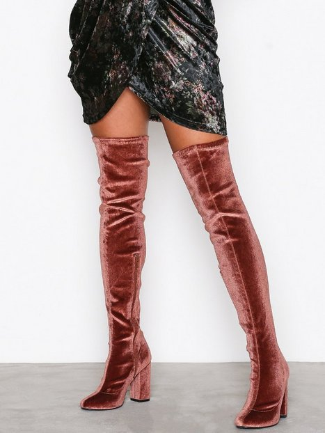 Billede af NLY Shoes Block Heel Thigh Boot Over the knee Mahogany