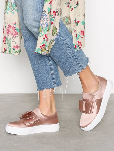 Billede af NLY Shoes Bow Sneaker Low Top Dusty Pink