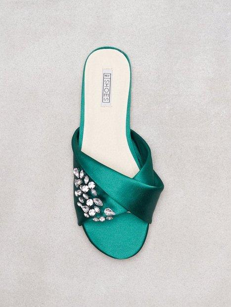 NLY Shoes Embellished Twist Sandal Pistokkaat Vihreä thumbnail
