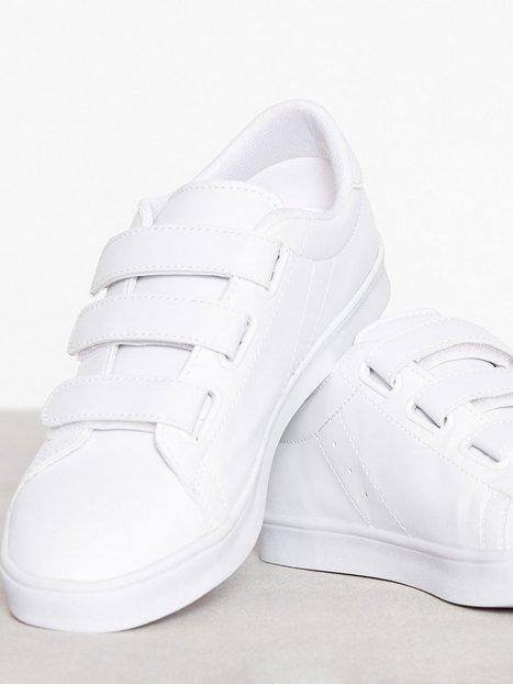 NLY Shoes Velcro Sneaker Low Top Vit thumbnail