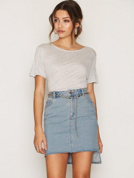 Billede af Cheap Monday Warp Skirt Midi Nederdel Blue
