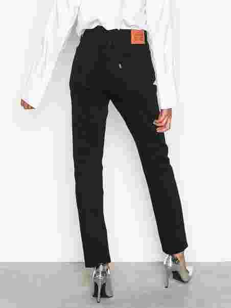 dee216b9056b 501 Skinny Black Slade - Levis - Black - Jeans - Clothing - Women ...