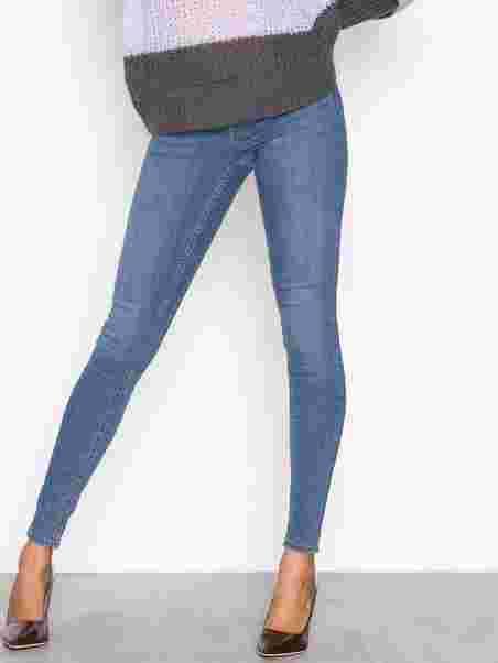 030cccb0 Skinny Low Waist Superstretch Jeans - Gina Tricot - Dark Blue Denim ...