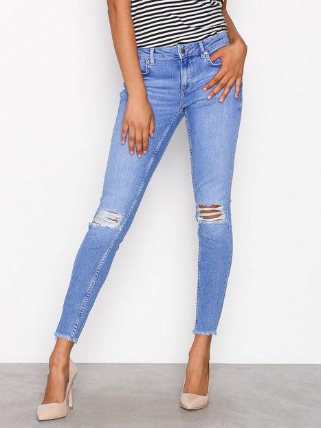 Billede af Gina Tricot Kristen Mid Waist jeans Skinny Electric Blue