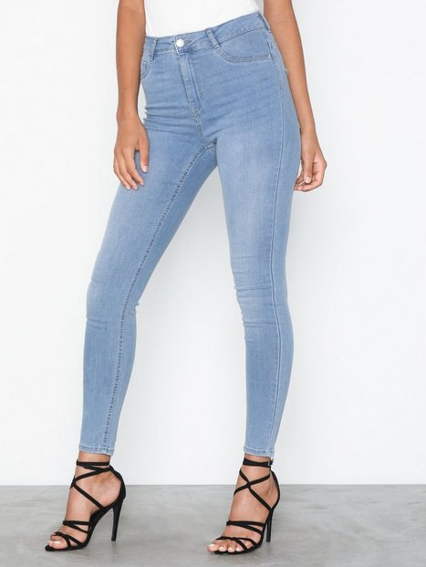 Gina Tricot Molly High Waist Jeans Skinny Ljus Blå