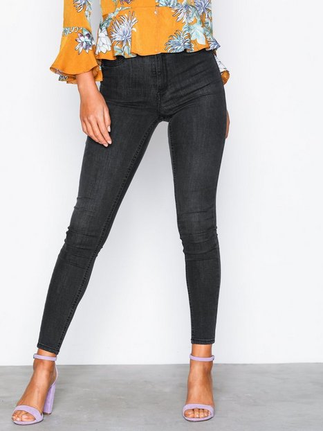 Gina Tricot Molly High Waist Jeans Skinny Black Grey - Gina Tricot
