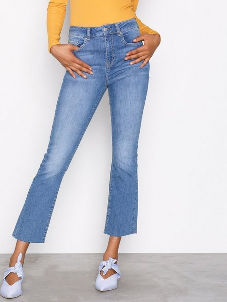 Billede af Gina Tricot Nicole Kickflare Jeans Bootcut & Flare Mid Blue
