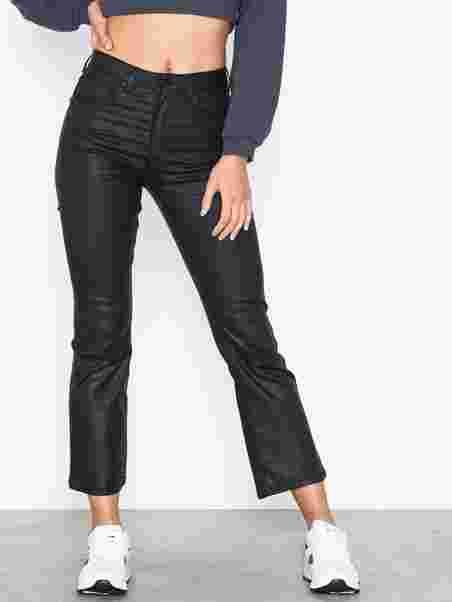 bea2c0776521 Shoppa Nova Kickflare Black Coated Jeans - Online Hos Nelly.com