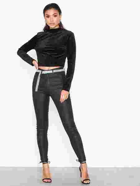 cff46c86833 Molly Coated Jeans - Gina Tricot - Black - Jeans - Tøj - Kvinde ...
