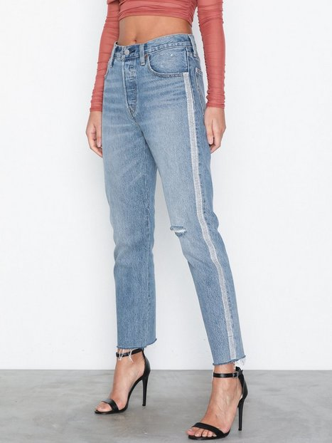 Billede af Levis 501 Crop Diamond In The Rough Straight fit