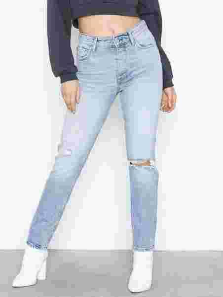 0f6f3cdf0fc8 Shoppa Original Slim Jeans Lt Blue Destroy - Online Hos Nelly.com