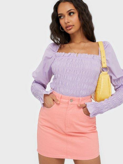 Billede af Gina Tricot Hi-waist Short Denim Skirt Mini nederdele