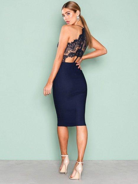 Scalloped Edge Midi Dress
