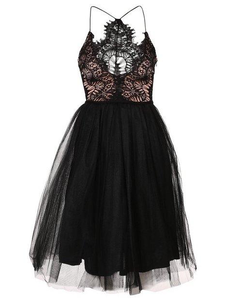 Lace Panel Midi Dress