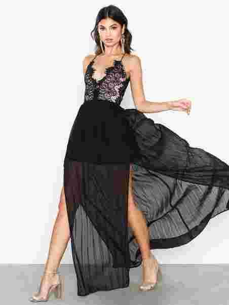 6103e91d931 Body Lace Thin Strap Dress - Rare London - Black - Party Dresses ...