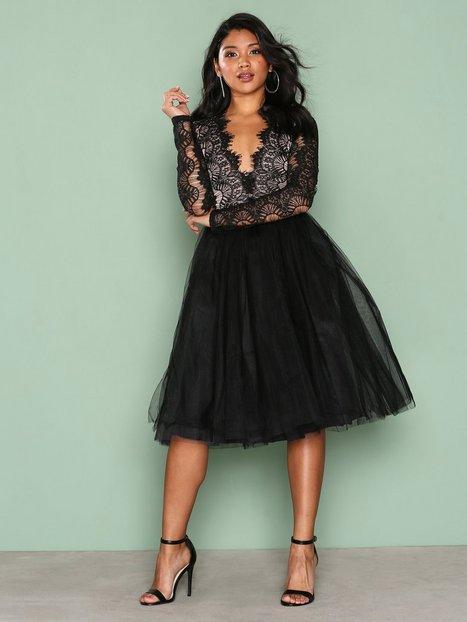 Billede af Rare London Long Sleeve Lace Tutu Dress Skater dresses Black