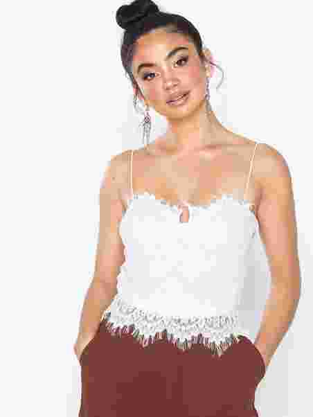 81df9f473d7 Lace Bodysuit - Rare London - White - Tops - Clothing - Women ...