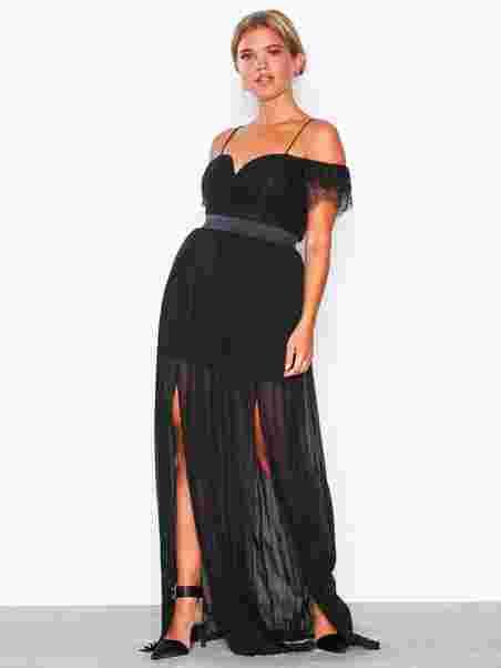 8bf8f350c8e Bardot Lace Detail Maxi Dress - Rare London - Black - Party Dresses ...