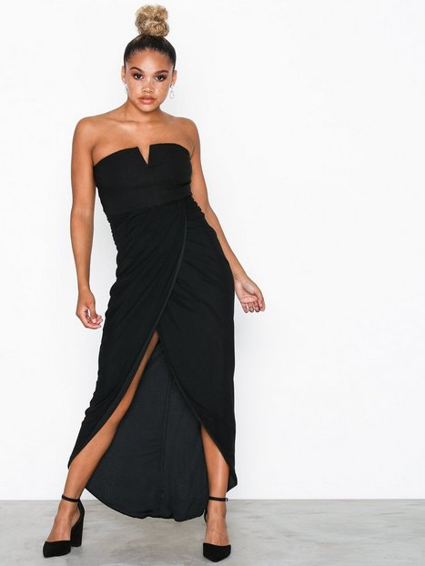 0a5e56c7cd19 Billede af Rare London Wrap Drape Midi Dress Tætsiddende kjoler