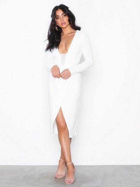 Billede af Rare London Bodycon Wrap Plunge Dress Tætsiddende kjoler