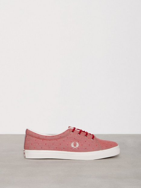 Billede af Fred Perry Aubyn Flocked Chambray Low Top Deep Red