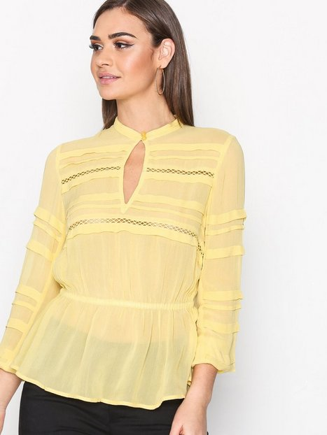 Munthe Terrence Blouse Juhlapaidat Yellow thumbnail