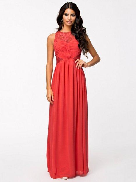 Floral Lace Maxi Dress - Little Mistress - Orange - Partykleider ...