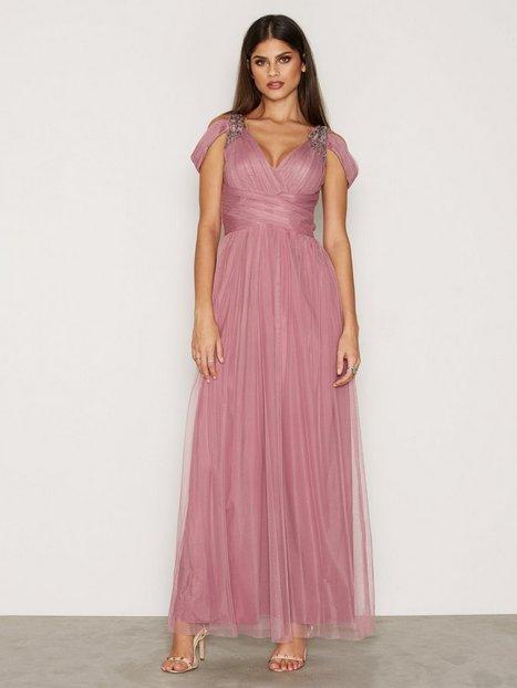 Billede af Little Mistress Mesh Maxi Dress W/T Silver details Maxikjole Rose