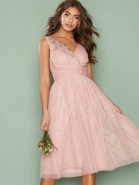 Billede af Little Mistress Applique Mesh Prom Dress Skaterkjole Rose