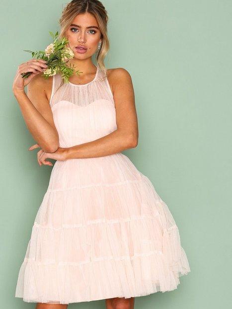 Billede af Little Mistress High Neck Mesh Dress Skaterkjole Apricot