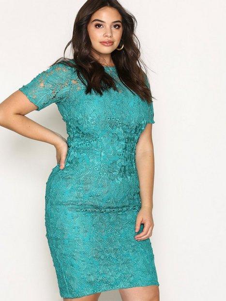 Billede af Little Mistress Short Sleeve Lace Dress Kropsnære kjoler Jade