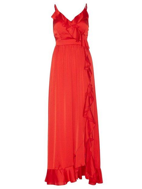 Wrap Ruffle Front Maxi Dress