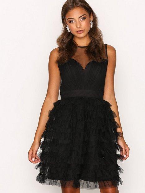 Billede af Little Mistress Mesh Detail Dress Skaterkjole Black