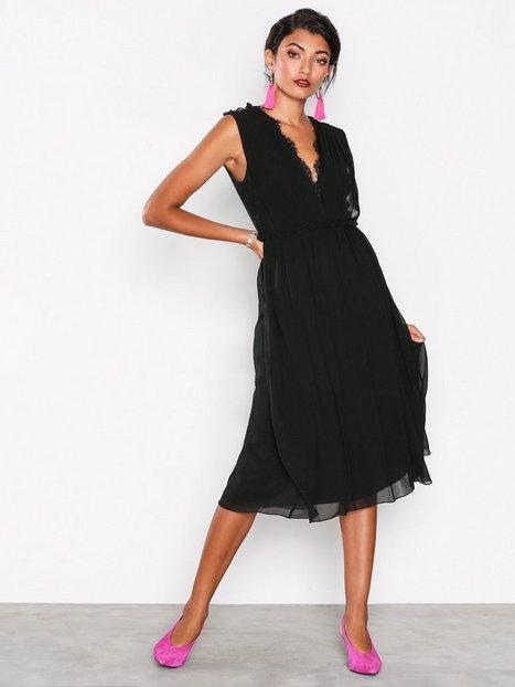 Billede af Little Mistress Detailed Lace Back Dress Skater dresses Black