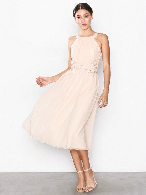 Billede af Little Mistress Embroidery Dress Maxikjoler Light Beige