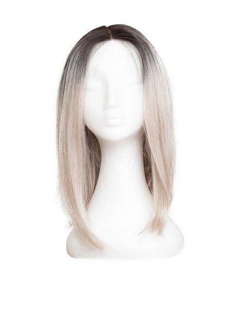 Billede af Rapunzel Of Sweden Lace Front Peruk - Lob 40cm Hair extensions Black Brown / Grey