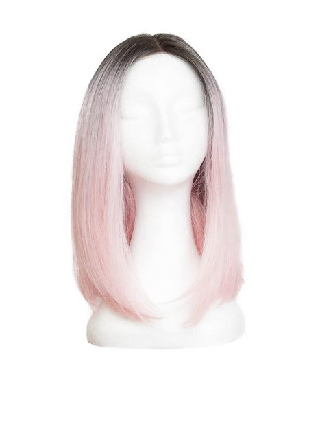 Billede af Rapunzel Of Sweden Lace Front Peruk - Lob 40cm Hair extensions Black Brown/ Pink