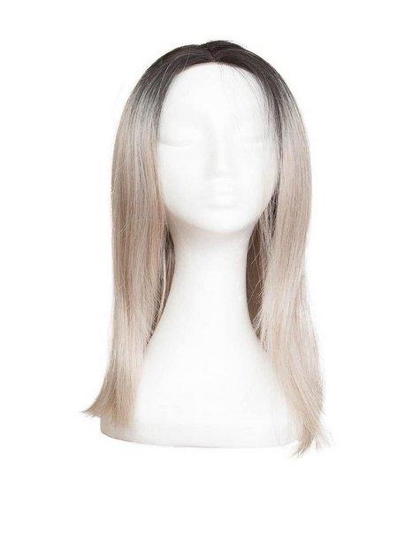 Billede af Rapunzel Of Sweden Lace Front Peruk - Long Bob 40cm Hair extensions Black Brown / Grey