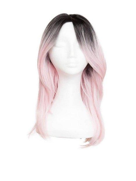 Billede af Rapunzel Of Sweden Lace Front Peruk - Long Bob 40cm Hair extensions Black Brown/ Pink