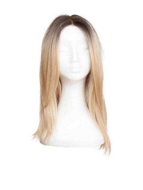 Billede af Rapunzel Of Sweden Lace Front Peruk - Long Bob 40cm Hair extensions Chocolate Brown/ Scandinavian Blond