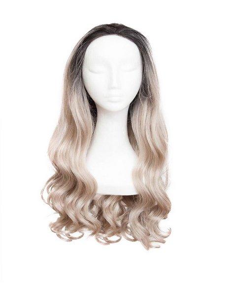 Billede af Rapunzel Of Sweden Lace Front Peruk - Long Curly 60cm Hair extensions Black Brown / Grey