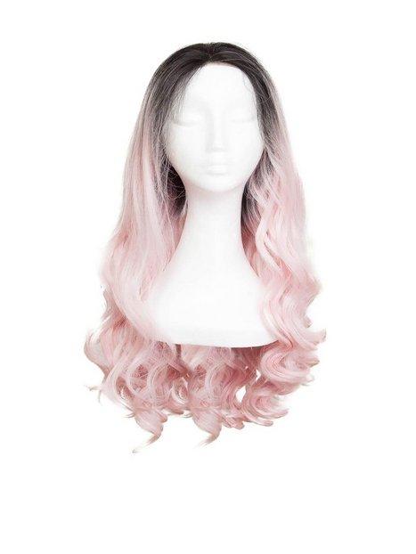 Billede af Rapunzel Of Sweden Lace Front Peruk - Long Curly 60cm Hair extensions Black Brown/ Pink