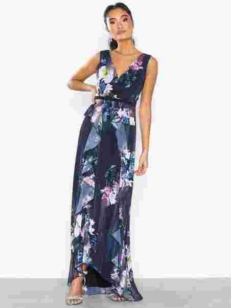 Viola Floral Plunge Maxi Dress - Little Mistress - Multicolour ... b97080bc4