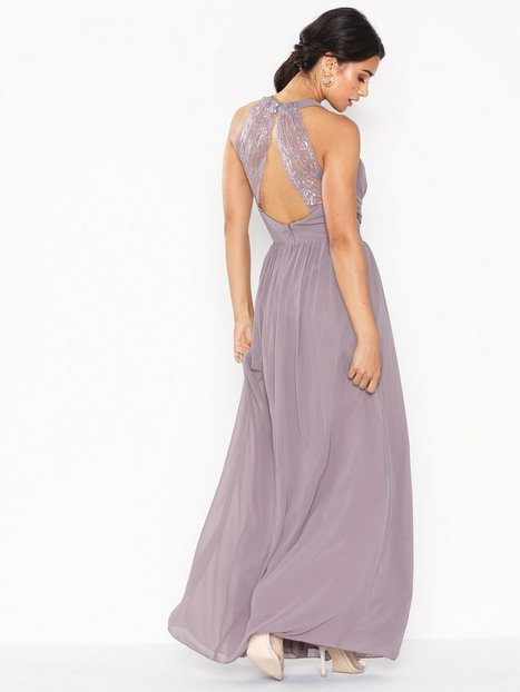 Billede af Little Mistress Maxi Chiffon Lace Dress Maxikjoler